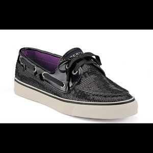 Sperry |  Sperry Black Sequin Shoes 8.5 |